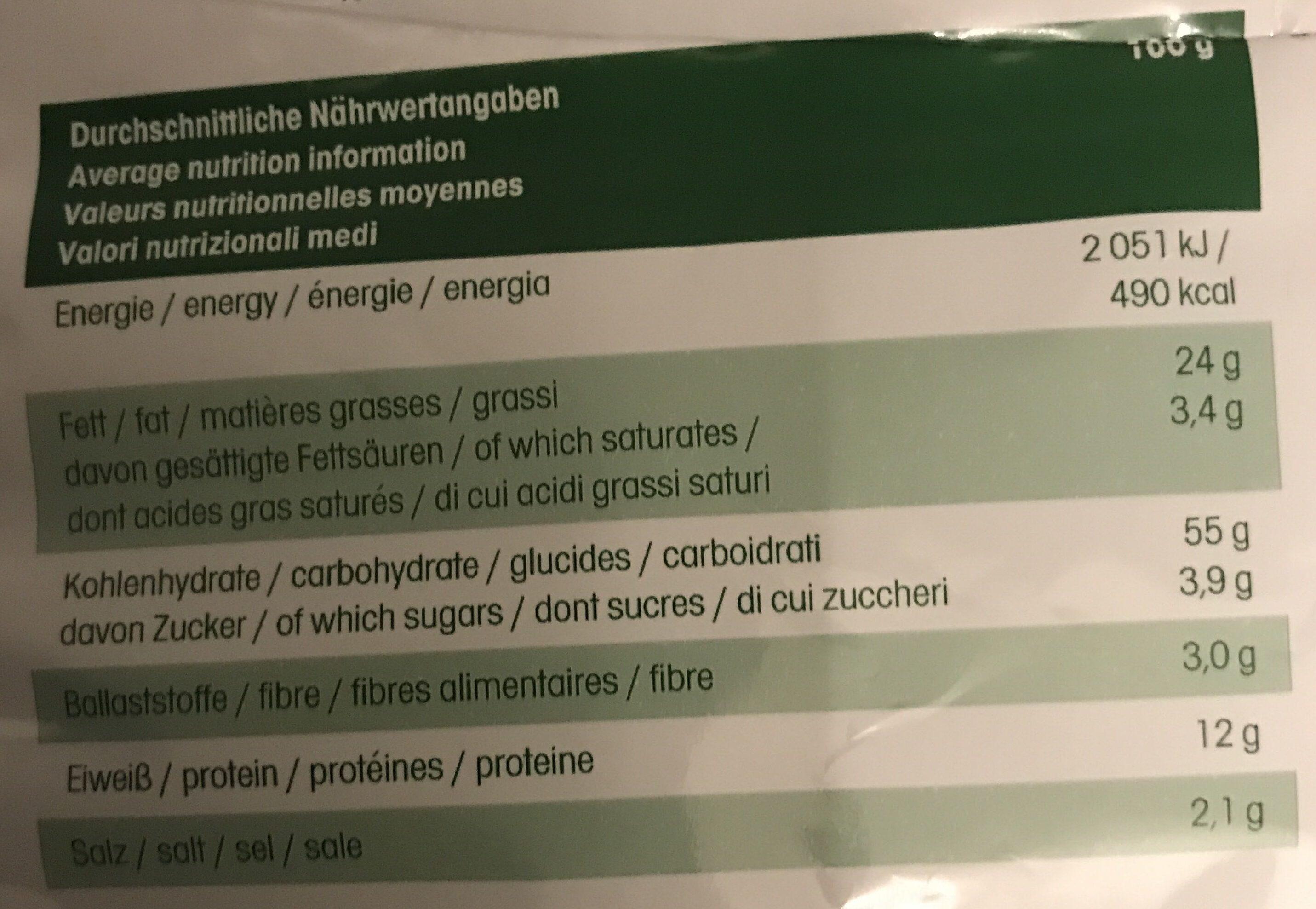 Erdnuss Locken Jumbos - Informations nutritionnelles - fr