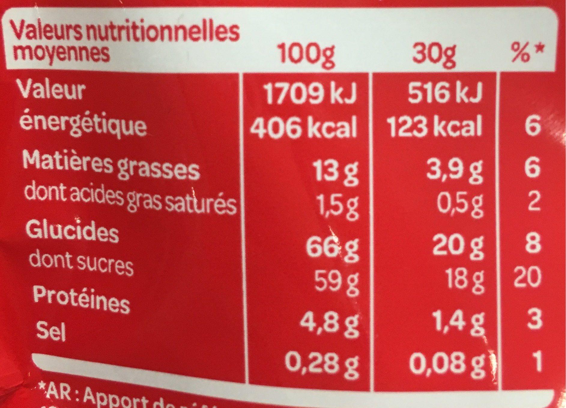 Apérifruits le classique - Nutrition facts
