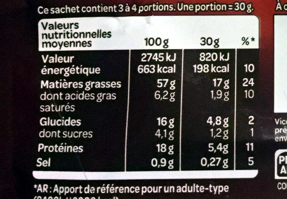 Le sélect - Informations nutritionnelles