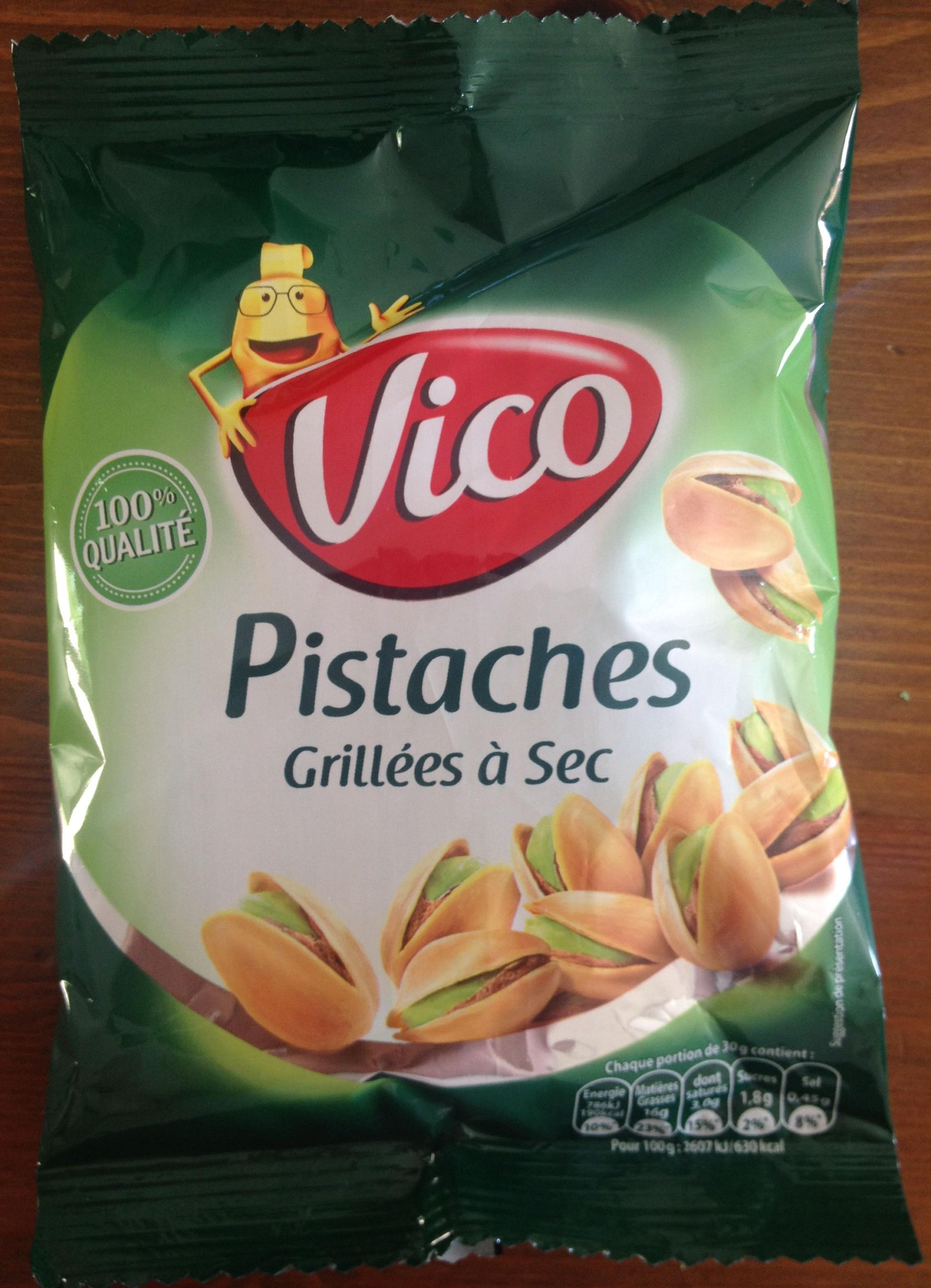 Pistaches grill es sec vico 125 g - Calories pistaches grillees ...