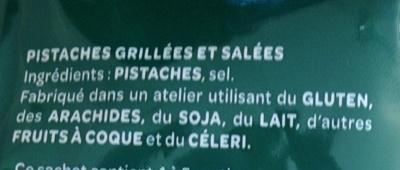 Pistaches grillées à sec - Ingrediënten