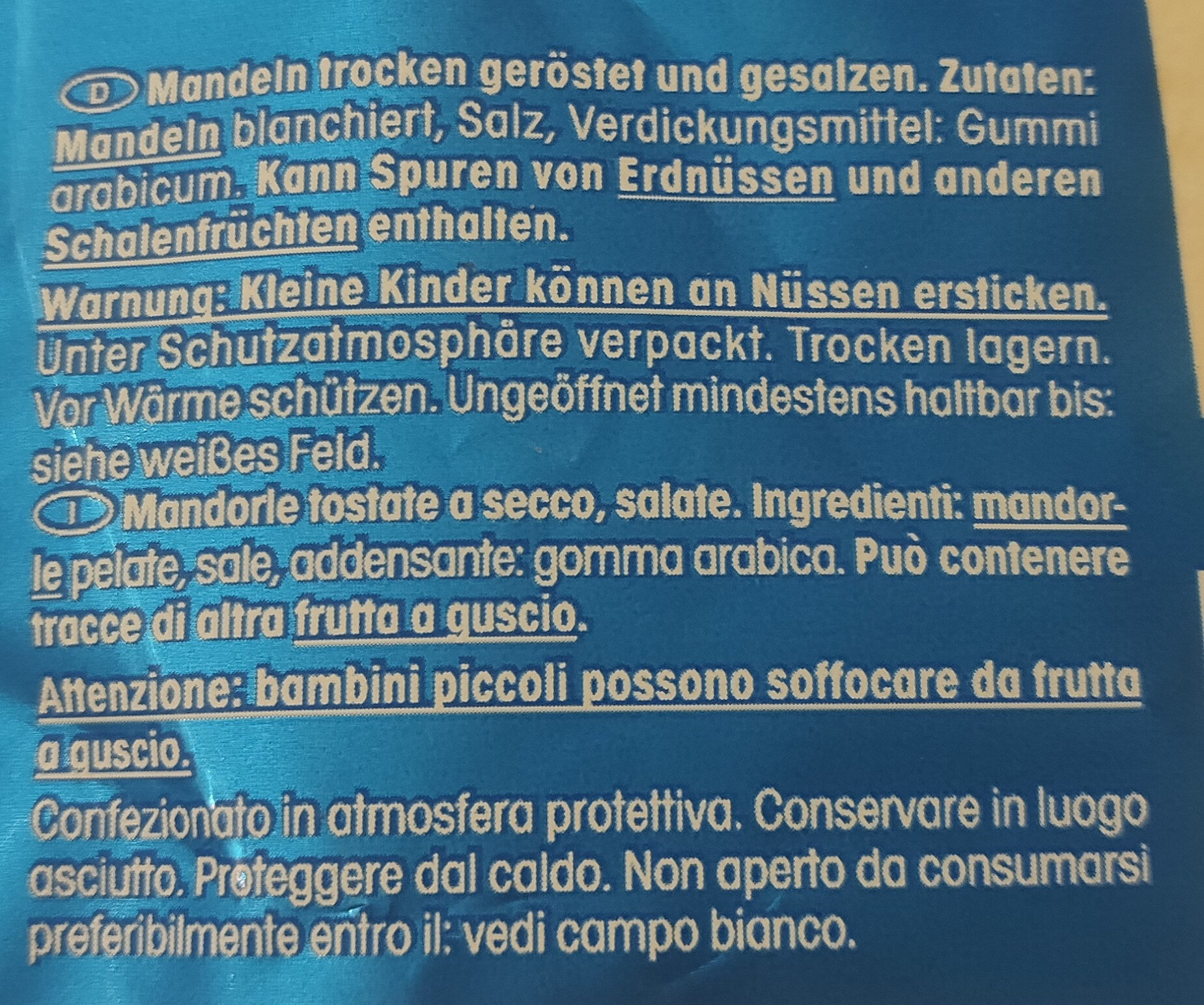 Salzmandeln gesalzen - Ingredienti - en