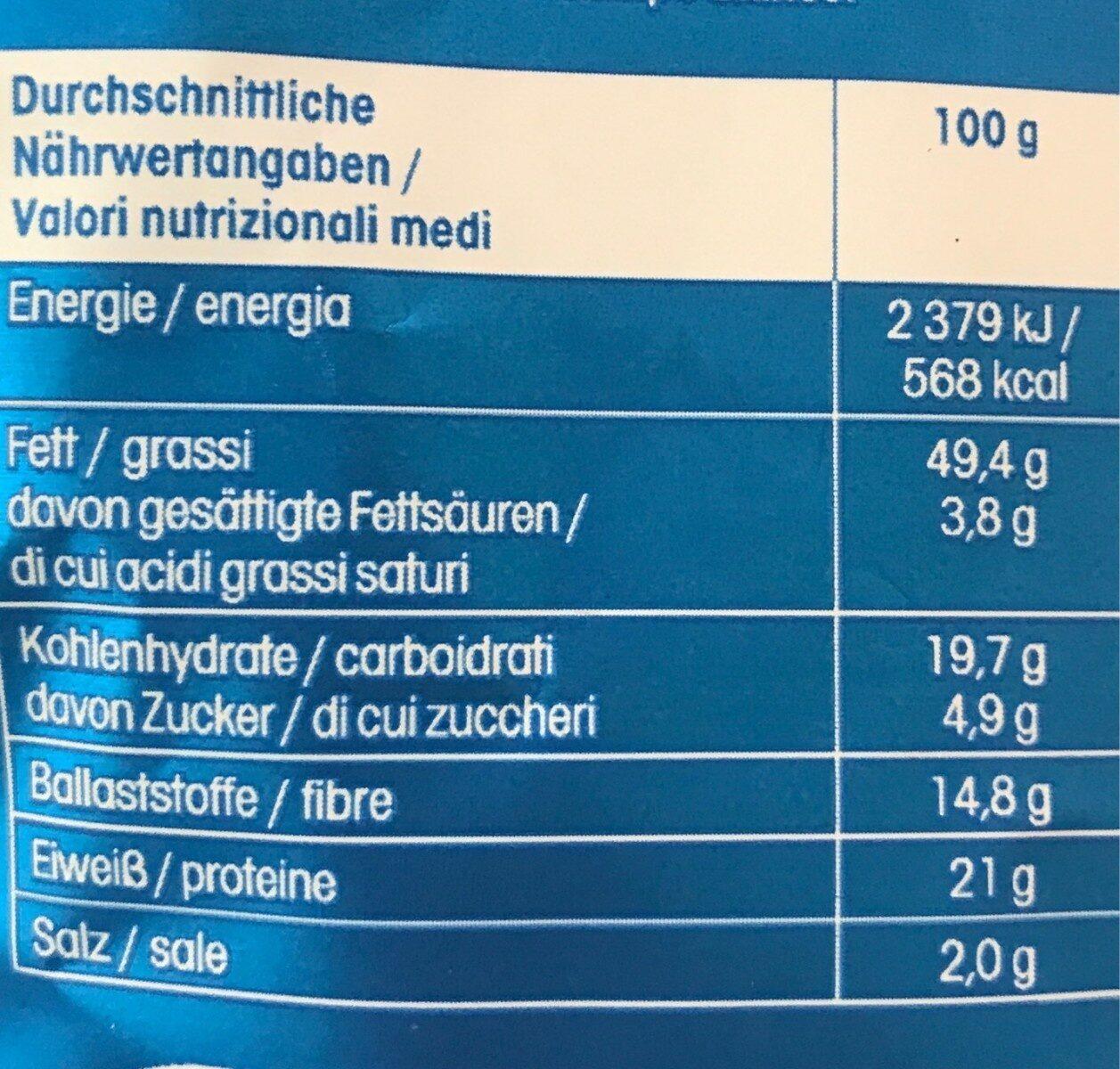 Salzmandeln gesalzen - Valori nutrizionali - en