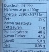Kakao Creme - Informations nutritionnelles - de