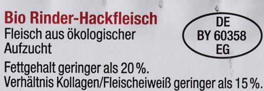Rinder Hackfleisch - Ingredients - de