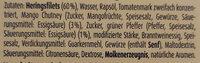 Zarte Heringsfilets Pfeffer-Mango-Creme - Inhaltsstoffe - de