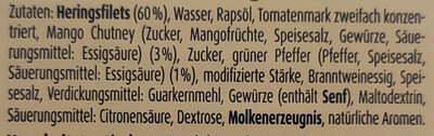 Zarte Heringsfilets Pfeffer-Mango-Creme - Inhaltsstoffe