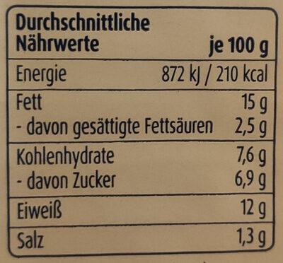 Zarte Heringsfilets Pfeffer-Mango-Creme - Nährwertangaben