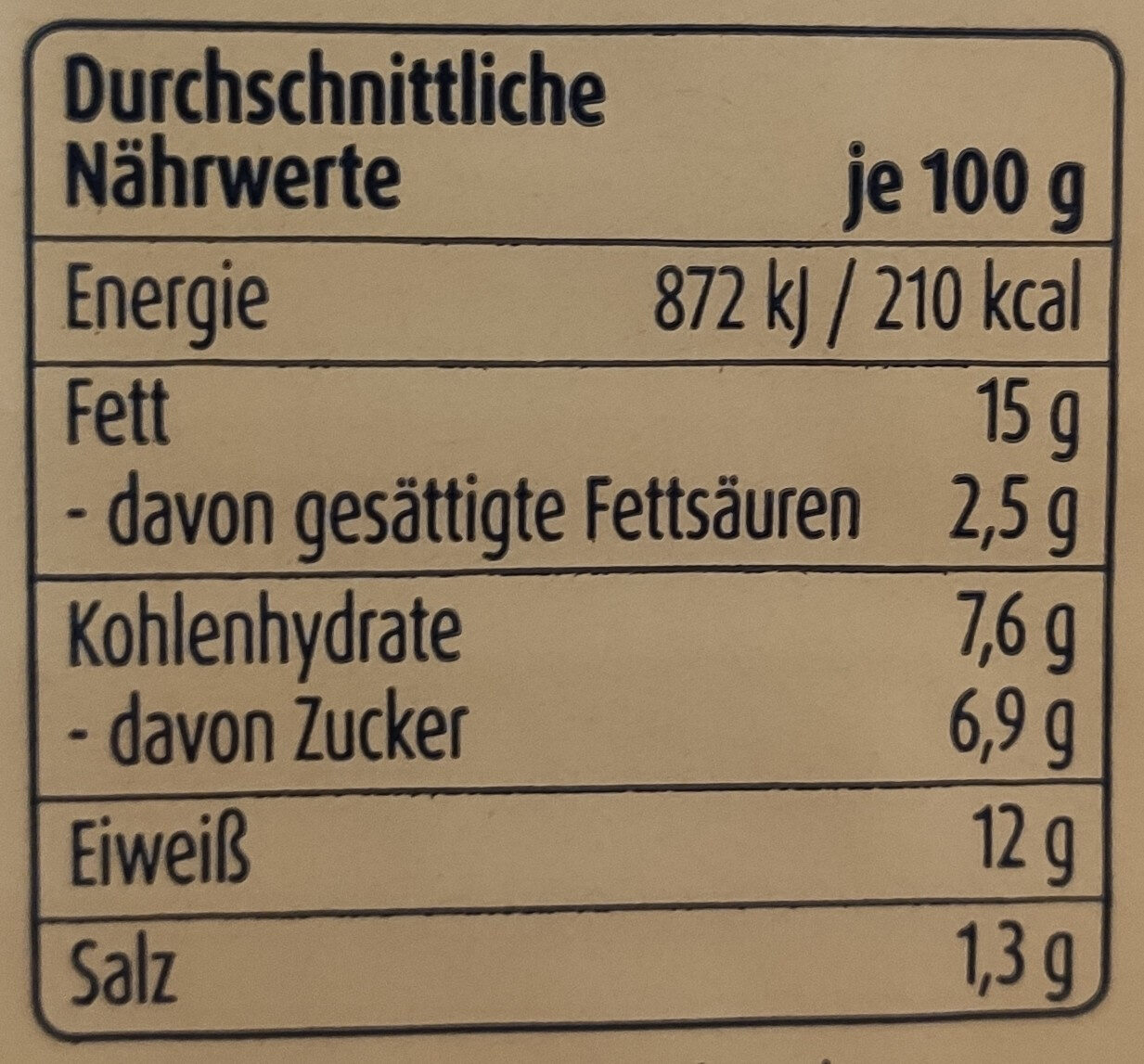 Zarte Heringsfilets Pfeffer-Mango-Creme - Nährwertangaben - de