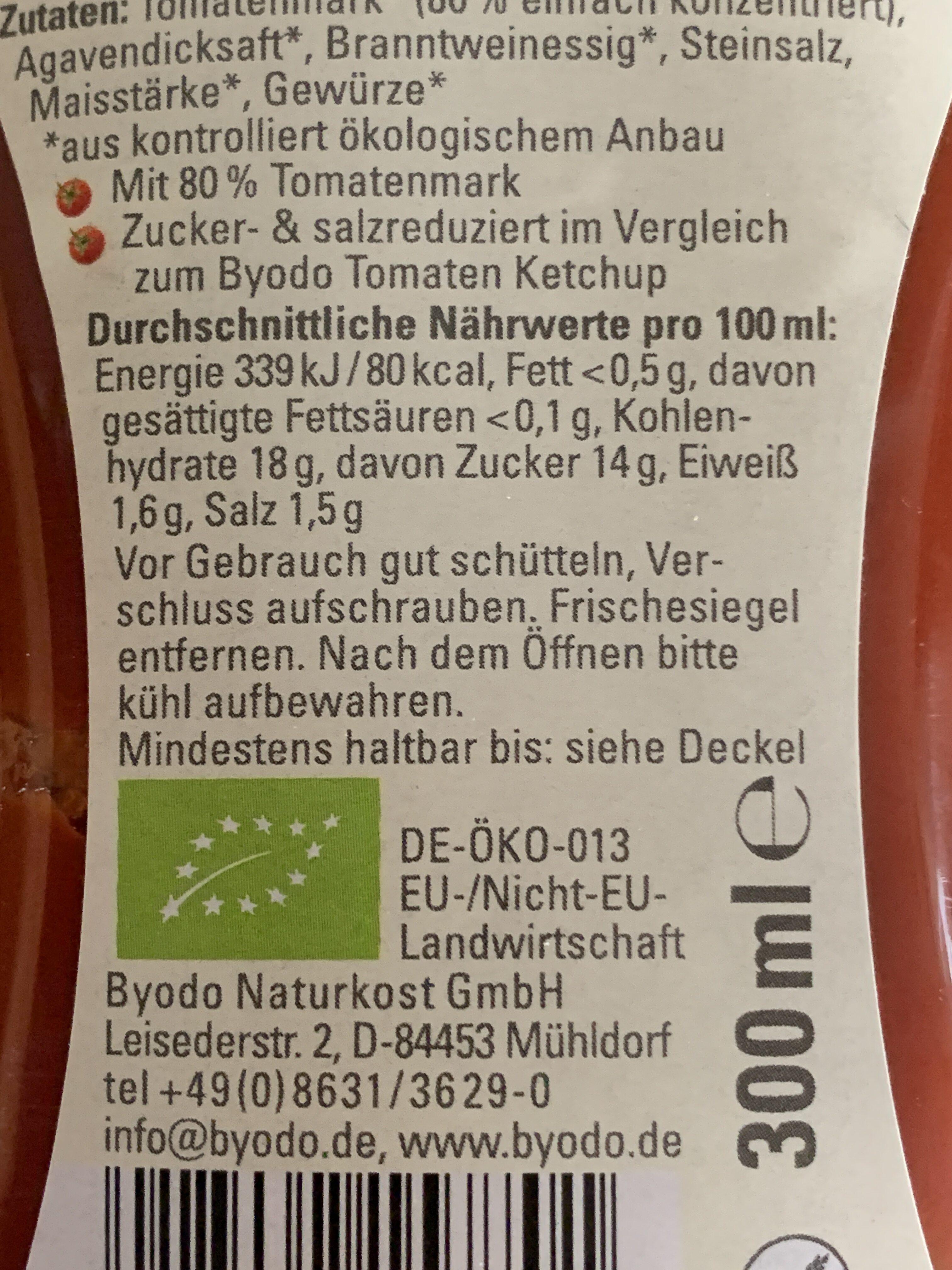 Kinder Ketchup - Nutrition facts - de
