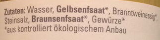 Mittelscharfer Senf - Ingredients