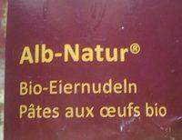 Pâtes aux œufs bio - Produit