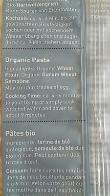 Mie-Noodles - Ingrediënten
