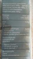 Mie-Noodles - Voedingswaarden - fr