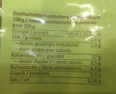 Pates frauche a l epeautre, oeufs et pommes de terre - Ingrédients - fr
