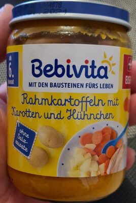 Rahmkartoffeln mit Karotten und Hühnchen - Produit - de