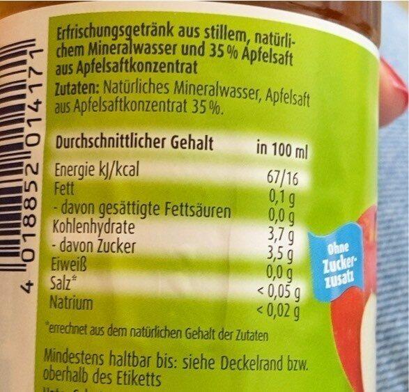 Apfel - Nutrition facts - de