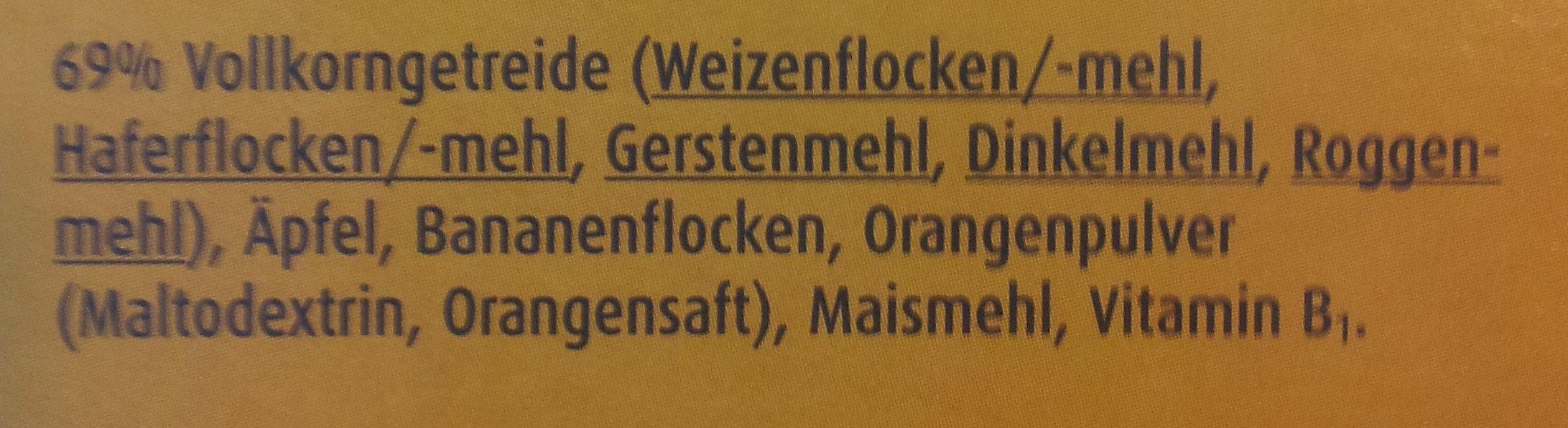 Bärenmüsli Früchte - Ingredients - de