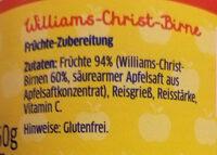 Williams-Christ Birne - Inhaltsstoffe - de