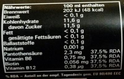 Ständer - Informations nutritionnelles - de
