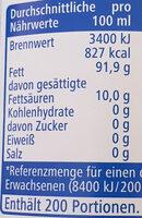 Reines Sonnenblumenöl - Informations nutritionnelles - de
