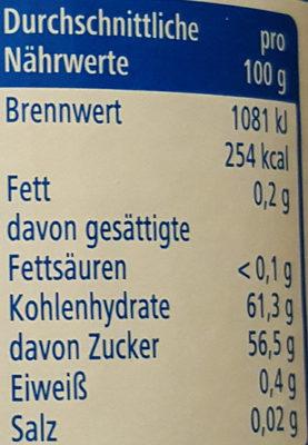 Erdbeer-Konfitüre - Informations nutritionnelles