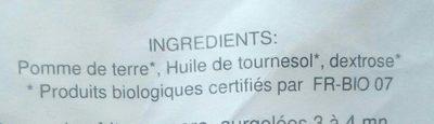 Frites - Ingrédients - fr