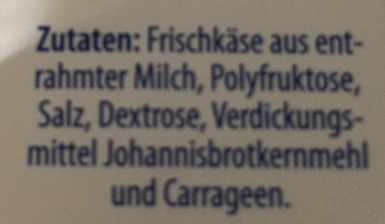 Exquisa Fitline 0,2 Fett% - Zutaten - de