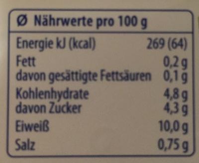 Exquisa Fitline 0,2% - Informazioni nutrizionali - de