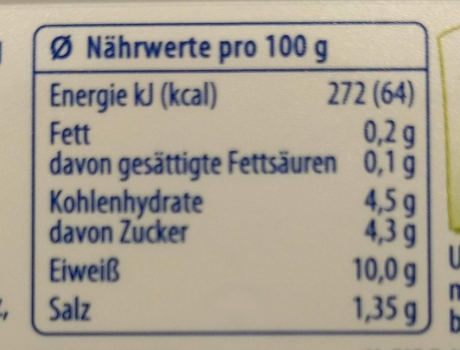 Exquisa - Nährwertangaben - de
