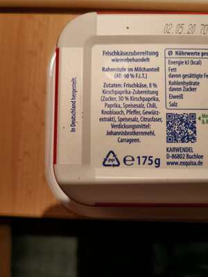 Creation Kirsch-Paprika - Ingredients - de