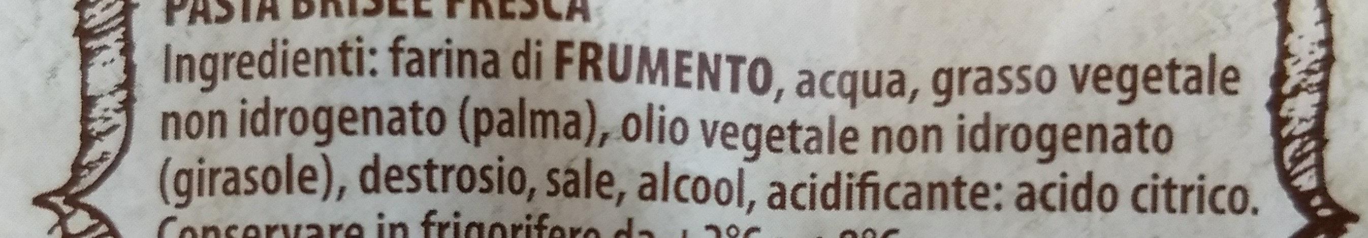 pasta fresca brisée rotonda - Ingredients
