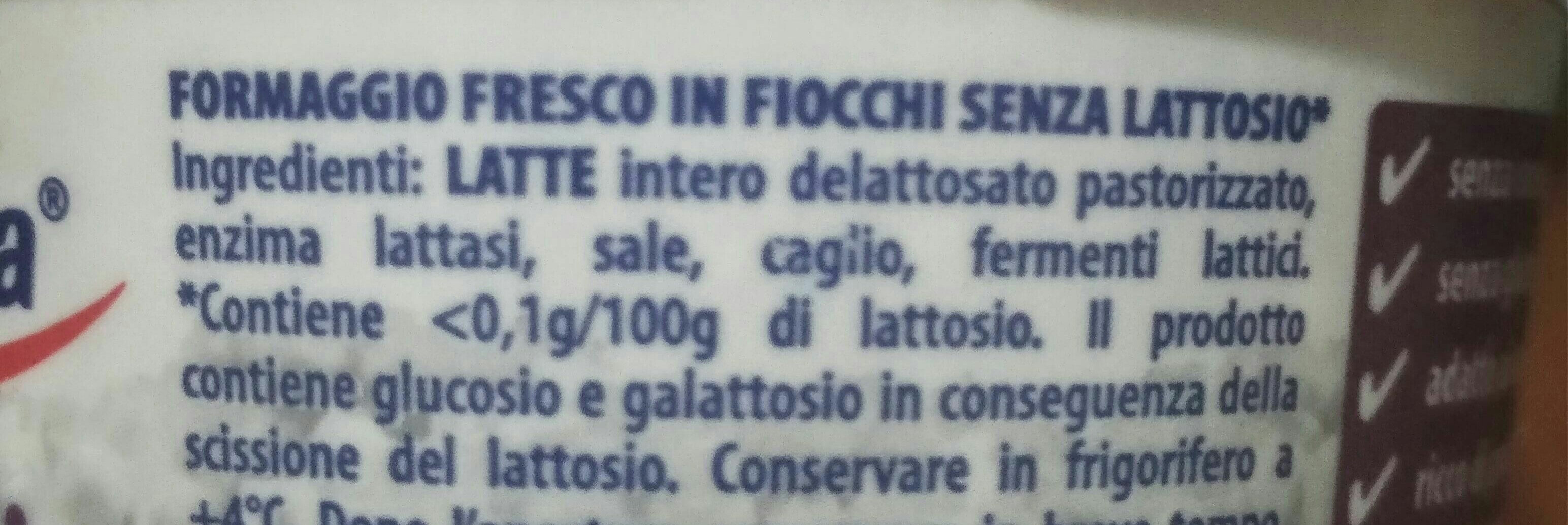Fiocchi di latte senza lattosio - Ingredienti - it