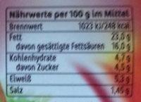 miree karamellisierte Zwiebeln - Informations nutritionnelles - de