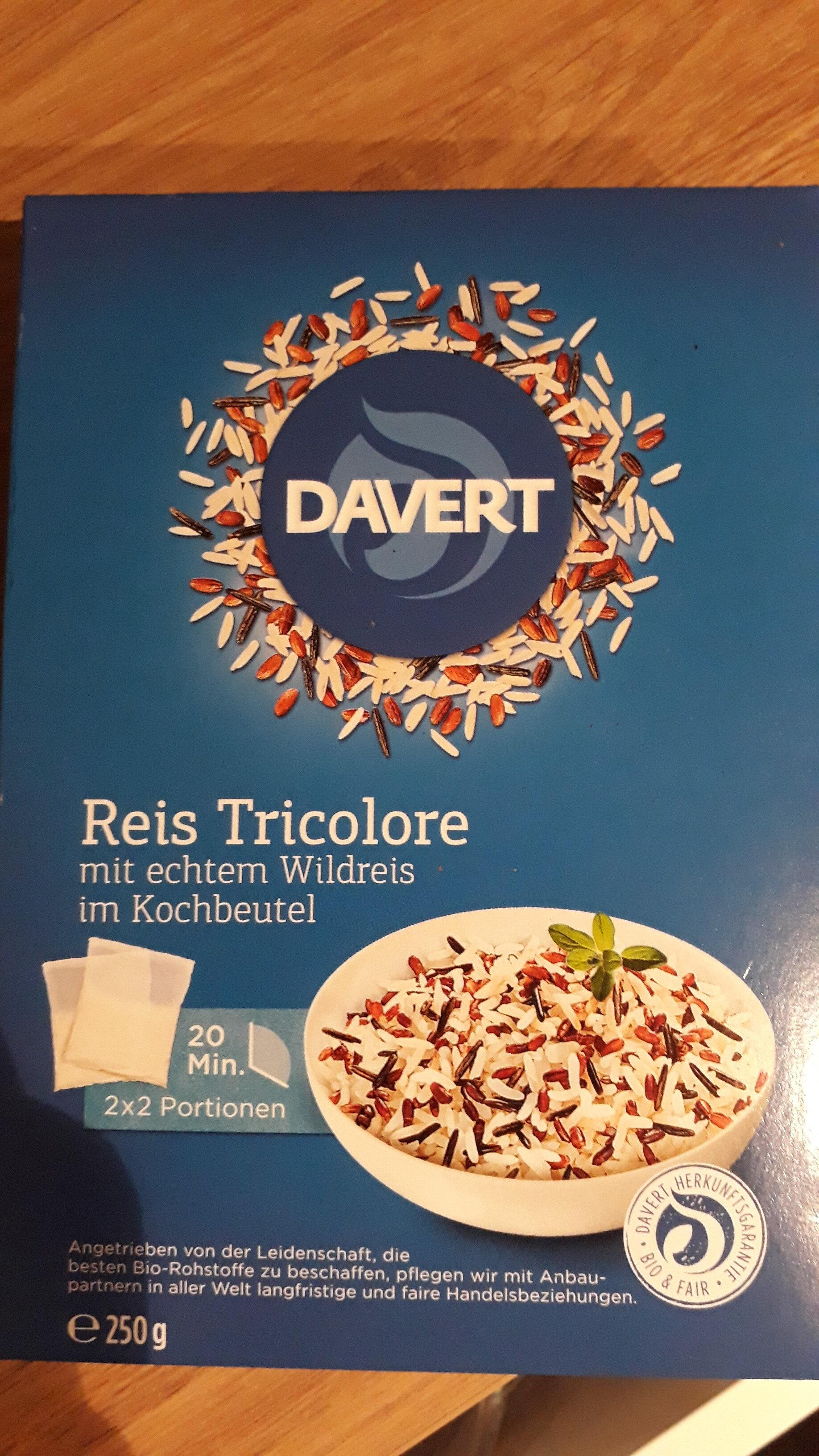 Davert Reis Tricolore mit Wildreis - Product - de