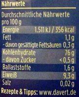 Echter Basmati Reis - Informations nutritionnelles - de