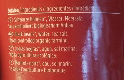 Schwarze Bohnen - Ingrédients