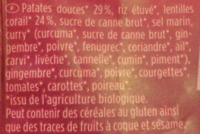 Susskartoffel curry - Ingredients