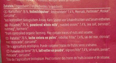 Potato Cup - Röstzwiebel - Ingredientes - de