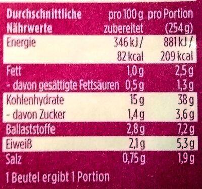 Potato Cup - Röstzwiebel - Información nutricional - de