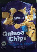 DAVERT Bio Quinoa Chips Sea Salt & Pepper, 35 G - Product