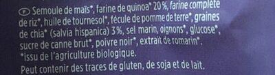 DAVERT Bio Quinoa Chips Sea Salt & Pepper, 35 G - Ingredients