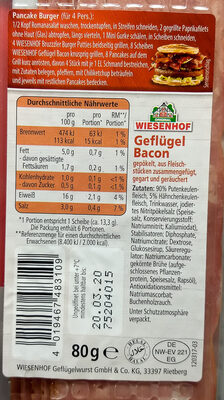 Geflügel Bacon - 4