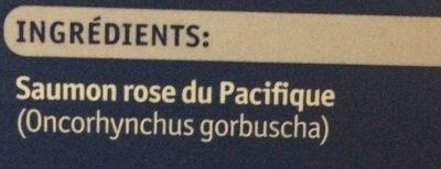 Filets de saumon sauvage du Pacifique - Ingrédients