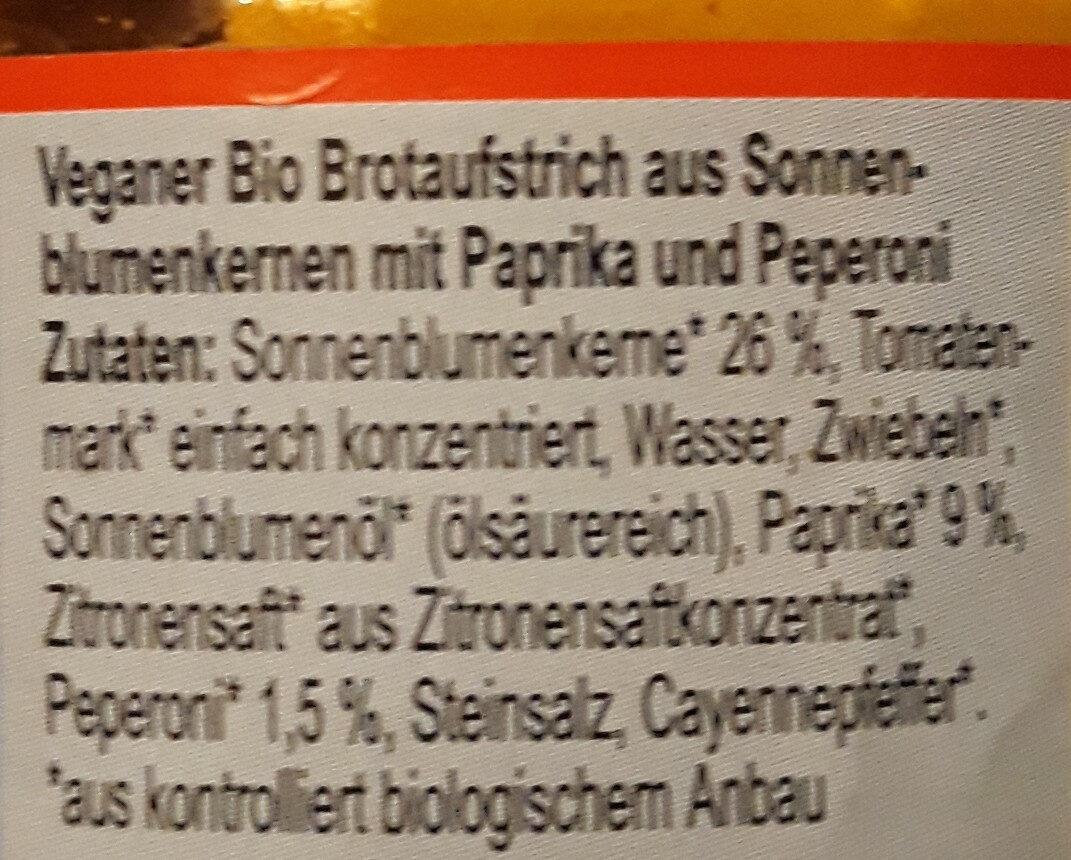 Paprika-Peperoni Streich - Inhaltsstoffe - de
