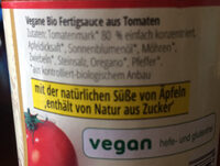 Kinder Tomatensauce - Ingrédients