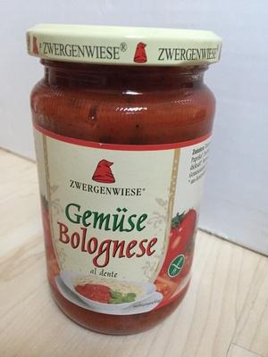 Zwergenwiese Gemüse Bolognese - Produkt