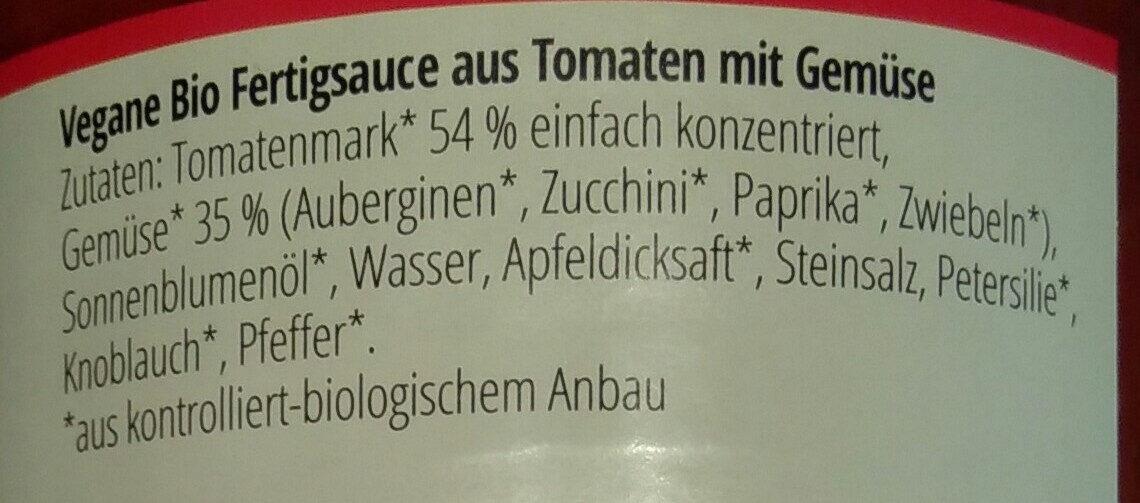 Zwergenwiese Gemüse Bolognese - Inhaltsstoffe - de