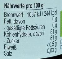 Fruchtgelee Rote Johannisbeere - Nährwertangaben - de