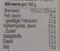 streich's drauf Bruschesto - Nährwertangaben - de